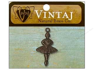 Vintaj Charm Ballerina Nat Brass