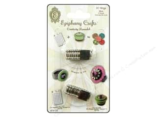 Epiphany Crafts Flowers: Epiphany Accessories Embellishment Stretch Ring 2pc