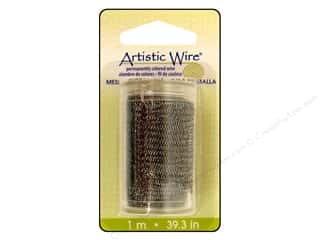 Artistic Wire Mesh 18mm Hematite 1M