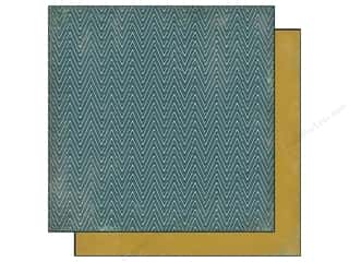 Cardstock  6x6: Authentique 6 x 6 in. Paper Free Bird Collection Familiar Chevron Teal (25 sheets)