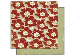 Authentique Paper 6x6 Free Bird Poised Floral Red (25 sheets)