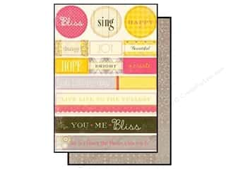 Authentique Die Cut Blissful Noteables (12 sheets)