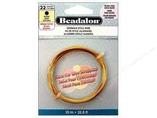 Fibre-Craft wire: Beadalon German Style Wire 22ga Round Gold 32.8 ft.