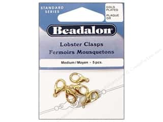 pincer inche: Beadalon Clasp Lobster 5 pc. Medium Gold Plated