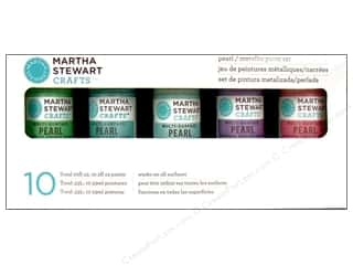 Metal Lily: Martha Stewart Craft Paint by Plaid Set Pearl/Metallic