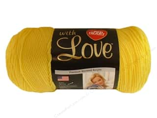 Crochet Hooks Best of 2012: Red Heart With Love Yarn #1201 Daffodil 7oz.