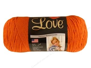 Purse Making Yarn & Needlework: Red Heart With Love Yarn #1252 Mango 7oz.