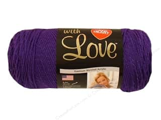 Yarn Red Heart With Love Yarn: Red Heart With Love Yarn #1530 Violet 7oz.