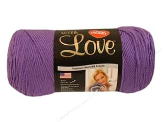 "Darice Plastic Canvas #7 10.5""x 13.5"" : Red Heart With Love Yarn #1538 Lilac 7oz."