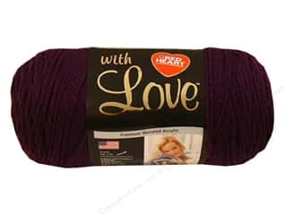 Yarn Red Heart With Love Yarn: Red Heart With Love Yarn #1541 Grape Jam 7oz.