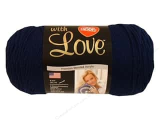 Yarn & Needlework Blue: Red Heart With Love Yarn #1801 Navy 7oz.