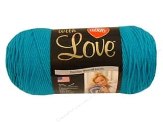 Yarn & Needlework Blue: Red Heart With Love Yarn #1803 Blue Hawaii 7oz.