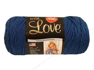 Everything You Love Sale American Crafts Ribbon: Red Heart With Love Yarn #1814 True Blue 370 yd.