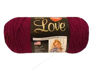 Blend Yarn & Needlework: Red Heart With Love Yarn #1907 Boysenberry 7oz.