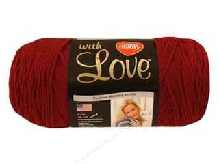 Yarn Red Heart With Love Yarn: Red Heart With Love Yarn #1914 Berry Red 7oz.