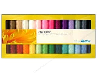Poly sheen polyester thread: Mettler Thread Gift Set Poly Sheen Solids 28pc