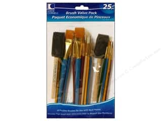 Fabric $0 - $10: Loew Cornell Brush Set Value Pack 25pc