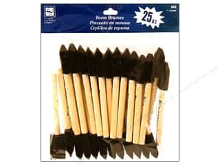 "Machine Lint Brushes Art, School & Office: Loew Cornell Brush Set Foam 1"" 25pc"