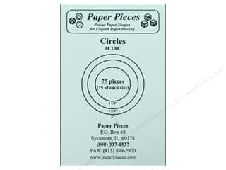 "Paper Pieces Sewing Construction: Paper Pieces Shape Circles 1 1/8"", 1 5/8"", 2"" 75pc"