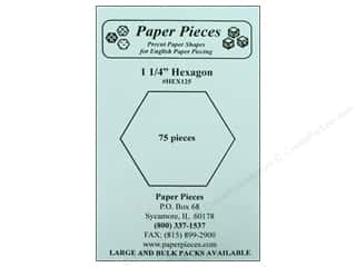 "Paper Pieces Sewing Construction: Paper Pieces Shape Hexagon 1.25"" 75pc"