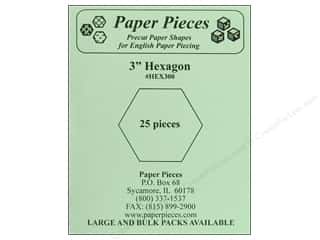 "Paper Pieces Shape Hexagon 3"" 25pc"