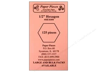 Paper Pieces Shape Hexagon .5&quot; 125pc