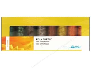 Poly sheen polyester thread: Mettler Thrd Gift Set Poly Sheen Autumn 8pc