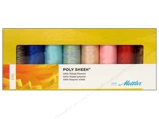 Poly sheen polyester thread: Mettler Thrd Gift Set Poly Sheen Kids 8pc