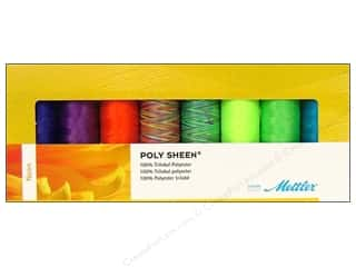 Mettler Thrd Gift Set Poly Sheen Neon 8pc