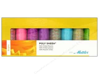 Poly sheen polyester thread: Mettler Thrd Gift Set Poly Sheen Brights 8pc