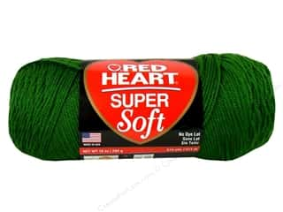 acrylic yarn: C&amp;C Red Heart Super Soft Yarn 10oz Grass Grn 515yd