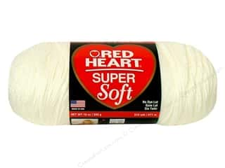 Clearance C&C TLC Essentials Yarn: C&C Red Heart Super Soft Yarn 10oz White 515yd