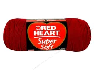 acrylic yarn: C&amp;C Red Heart Super Soft Yarn 10oz Wine 515yd