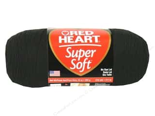 Clearance C&C TLC Essentials Yarn: C&C Red Heart Super Soft Yarn 10oz Black 515yd