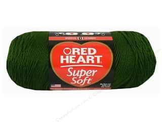 acrylic yarn: C&amp;C Red Heart Super Soft Yarn 10oz Drk Leaf  515yd
