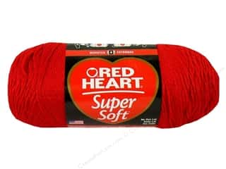 Clearance Red Heart Designer Sport Yarn: C&C Red Heart Super Soft Yarn 10oz Realy Red 515yd
