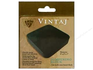 "Vintaj Beading & Jewelry Making Supplies: Vintaj Tools Dampening Block Rubber 4""x 4"""