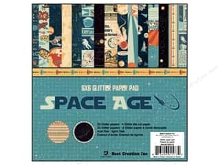 Best Creation Paper Pad Glitter 6x6 Space Age