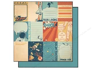Zodiac/Celestial: Best Creation 12 x 12 in. Paper Space Age Collection Moon Landing Tags (25 sheets)