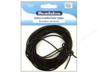 Leather Supplies Jewelry Making: Beadalon Indian Leather Cord 2.0 mm (.079 in.) Brown 5 m (16.4 ft.)