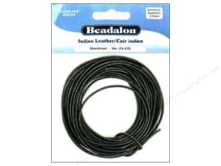 Leather Supplies Jewelry Making: Beadalon Indian Leather Cord 2.0 mm (.079 in.) Black 5 m (16.4 ft.)