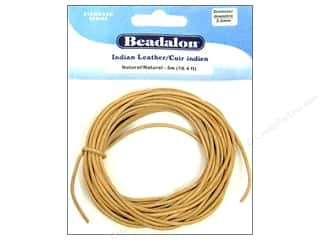 Beadalon Indian Leather Cord 2.0 mm Natural 5 m