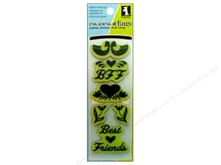 2013 Crafties - Best Adhesive: Inkadinkado InkadinkaClings Rubber Stamp Folk Best Friend