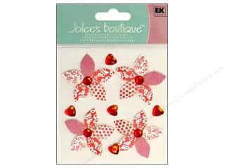 Jolee's Boutique Stickers Red Patterned Flowers