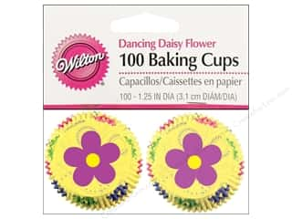 Wilton Baking Cup Mini Dancing Daisies 100pc