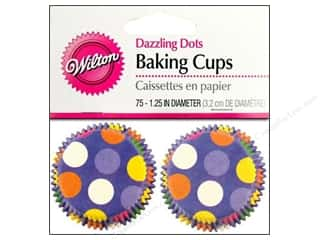 Cups & Mugs $7 - $8: Wilton Mini Baking Cups Dazzling Dots 75 pc.
