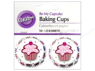 Baking Supplies Black: Wilton Mini Baking Cups Be My Cupcake 100 pc.