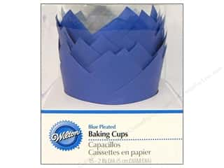 Wilton Baking Cup Standard Pleated Blue 15pc
