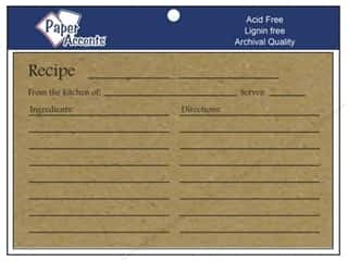 Kitchen > Scrapbooking &amp; Paper Crafts: Paper Accents Recipe Card 4&quot;x 6&quot; Brown Bag 25pc