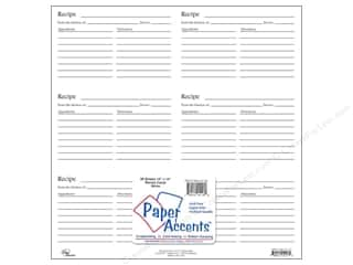 Paper Accents Cards: Paper Accents Recipe Card 12 x 12 in. White (25 sheets)